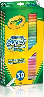 Crayola 50 Super Tips Washable Markers Arts & Crafts