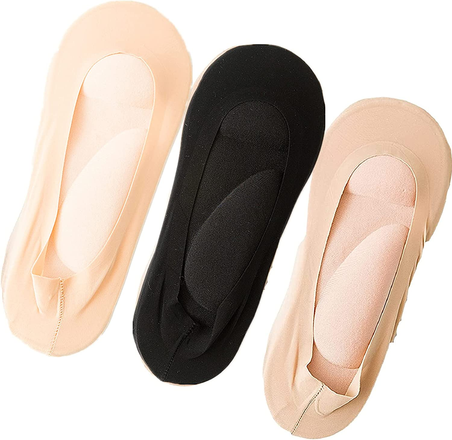 3 Pairs 3D Arch Support Socks Max 54% OFF Max 68% OFF Padded Massage Foot Cushioned