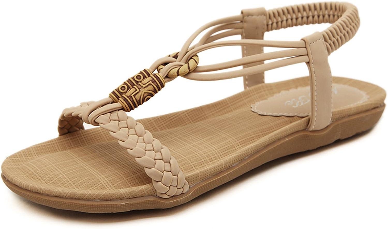 DQQ Bohème-Damensandalen mit elastischen Knöchelriemen    fa828e