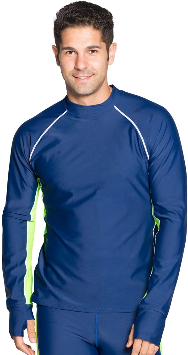 Tuga Men's Snorkeling Rash Guard, UPF 50+ Sun Protection Swim Shirt