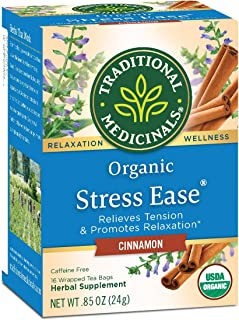 Traditional Medicinals Stress Ease Cinnamon Organic Relaxation Tea , Relieves Stress, Tension and Irritability, 96 Count (...