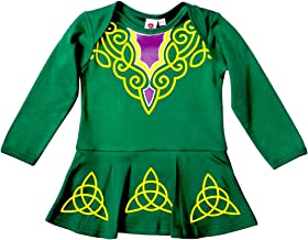 Green St. Patrick's Day Babies Vest Designed As Irish Dancing Dress With Celtic Design