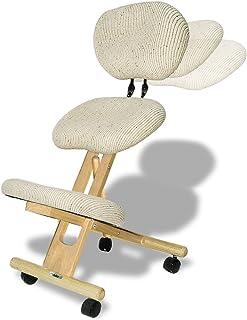 cinius Silla ergonómica Profesional Color Crema con Respaldo