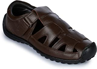 Coolers (from Liberty) Men's Brown Leather Sandals and Floaters