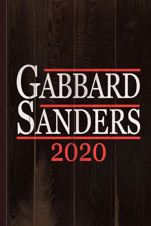 溶ける共和党類似性Tulsi Gabbard Bernie Sanders 2020 Journal Notebook: Blank Lined Ruled For Writing 6x9 110 Pages