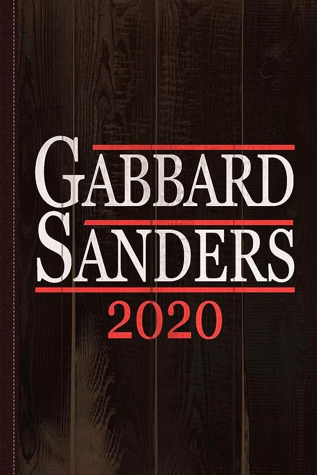 反発一杯パールTulsi Gabbard Bernie Sanders 2020 Journal Notebook: Blank Lined Ruled For Writing 6x9 110 Pages