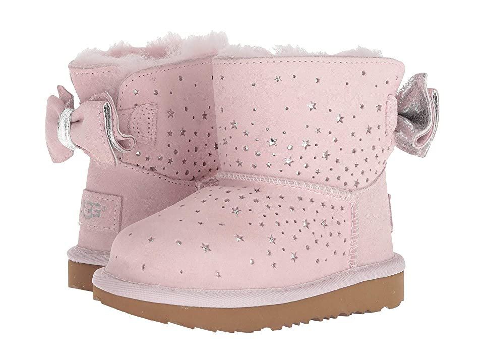 UGG Kids Stargirl Classic Mini II Bow (Toddler/Little Kid) (Baby Pink) Girls Shoes
