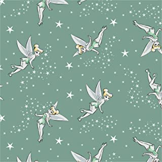 Disney Tinkerbell Pixie Dust in Sage Fabric by the Yard