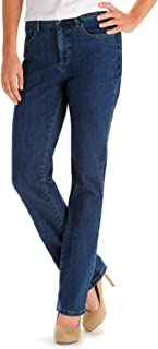 Lee Women's Tall Instantly Slims Classic Relaxed Fit Monroe Straight Leg Jean, Seattle, 6/Tall