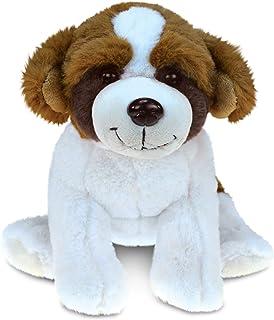 Puzzled St. Bernard Dog Super - Soft Stuffed Plush Cuddly Animal Toy Theme 7.5 Inch Unique Huggable Loveable New Friend Gi...
