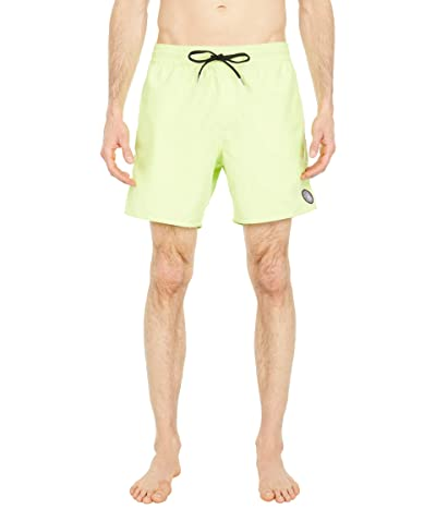 Volcom Lido Solid 16 Trunks (Hilighter Green) Men