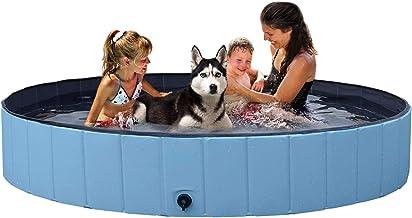 YAHEETECH Red Foldable Hard Plastic Kiddie Baby Large Dog Pet Bath Swimming Pool Collapsible Dog Pet Pool Bathing Tub Kidd...