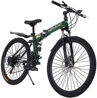Mountain Bike with 21 Speed 26 Inches Full Suspension Non-Slip Light Hard Tail Mountain Bike