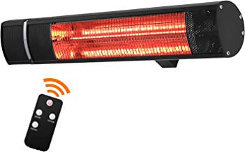 Sunday Living Electric Patio Heater, 1500W Outdoor Heater with 3 Power Settings, Infrared Heater with Remote Control, Over...