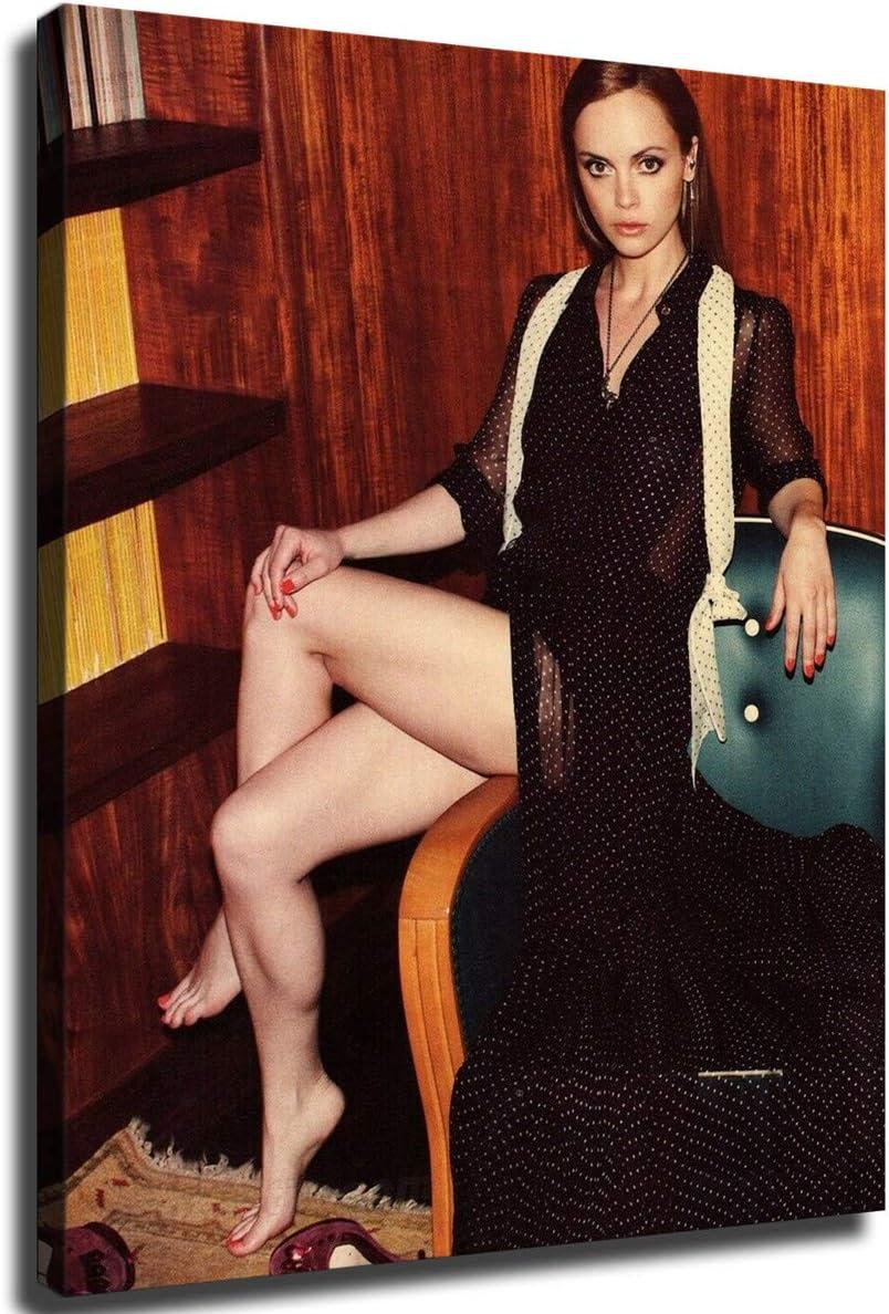 MINGYUE Christina Ricci 通信販売 Sexy Cross Wall Cuadros Art Picture 美品 Legs