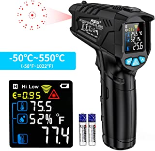 Thermomètre infrarouge Temperature Laser MESTEK Sans Contact Pistolet Temperature LCD -58°F~1022°F(-50°C~550°C) Réglable A...