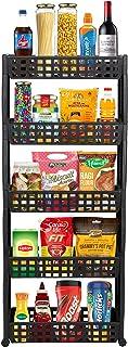 Cutting EDGE 5 Layer SLIM Classic Premium Brown - Smart Storage Organizer – Multipurpose & Easy-To-Move Slide Out Shelf Ra...