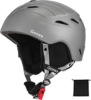 Gonex Ski Helmet with ASTM Certified Safety, Winter Anti-Shock Snowboard Snow Helmet with Adjustable Dial for Men Women Youth, with Storage Bag, S/M/L Size