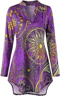 Dashiki Tops,Toimoth Fashion Women Long Sleeve Asymmetrical Ethnic Print Tee Shirt Blouse