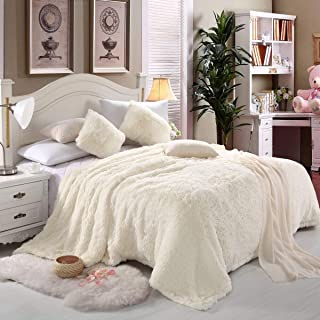 faux fur blanket white
