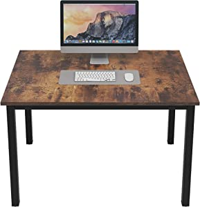 DlandHome Small Computer Desk for Home Office Activity Table Writing Table for Small Spaces Study Table Student Laptop Desk (39 inch, Retro)