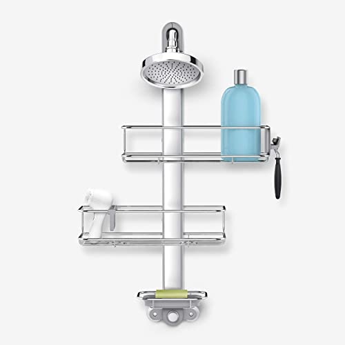 simplehuman Adjustable Extendable Shower Caddy, Stainless Steel and Anodized Aluminum