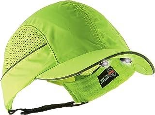 Safety Bump Cap with LED Brim Lighting, Baseball Hat Style, Long Brim, Ergodyne Skullerz 8960