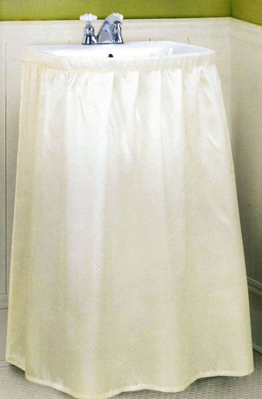 Amazon Com Better Home New Fabric Sink Skirt Bone Beige
