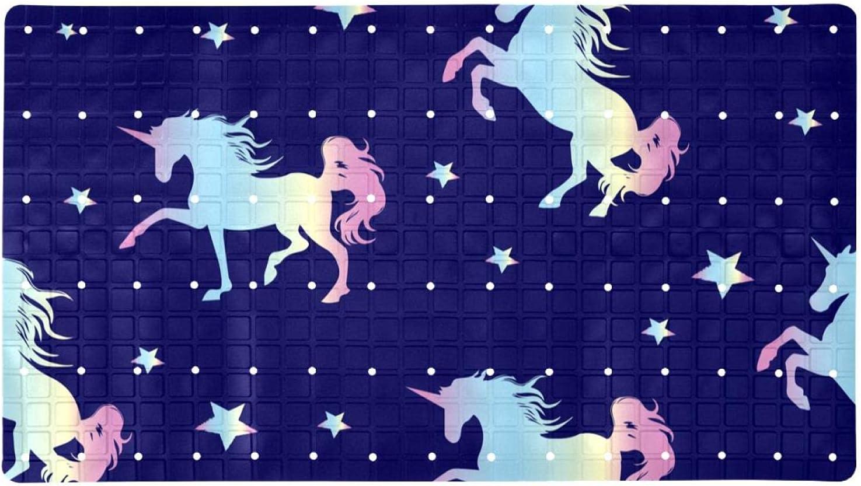 Bath Columbus Mall Tub Shower Mat 15.7x27.9 cheap Pattern Unicorn inches Silhouette