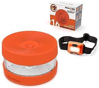 iWotto E light V 16 - Luz Emergencia Coche + Linterna luz Frontal - Señal V16 Baliza Emergencia intensa, Accesorio de Coch...