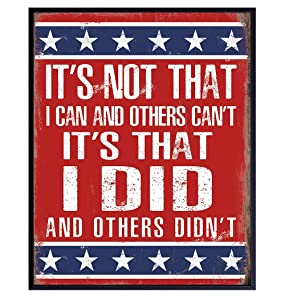 US Military American Flag Wall Art - Patriotic Decor, Room Decoration - Gift for Soldiers, Veterans, Army, Air Force, Marines, USMC, Navy, Armed Forces, Coast Guard, Vets, Men, Women - Picture Poster