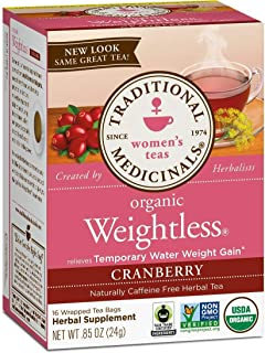 Traditional Medicinals Organic Weightless Cranberry Women's Tea, 16 Tea Bags (Pack of 1)