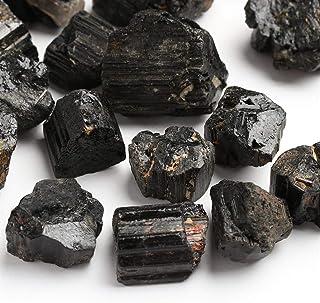 ZZLLFF 100g / Pack Negro Natural del Cristal de turmalina de Piedras Preciosas coleccionables Rough Rock Mineral de muestras de Piedra Decoración for el Hogar (Color : Black)