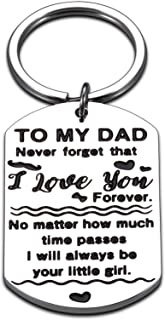 Dad Gift Daddy Keychain Fathers Day Gifts from Daughter Wife Kids for Dad Papa Daddy Husband Him Gift Idea for Valentine's...