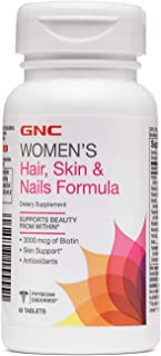 GNC Women's Hair, Skin & Nails Formula, 60 Caplets, Supports Beauty from Within