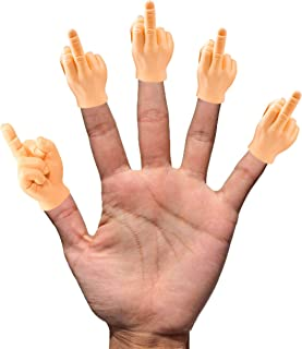Daily Portable LLC Tiny Hands (Middle Finger Sign) - 5 Pack - MFU Style Mini Hand Puppet