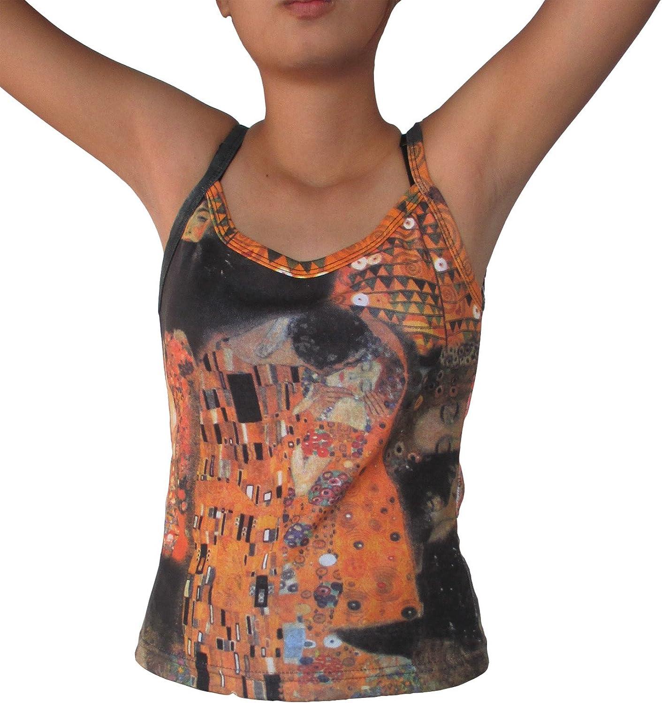 RaanPahMuang Brand Gustav Klimt The Kiss Collage Spaghetti Top