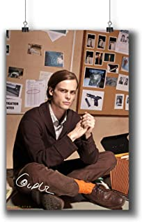 Pentagonwork Criminal Minds TV Photo Poster Prints 271-029 Dr.Spencer Reid Matthew Gray Gubler Reprint Signed Casts,Wall Art Decor Gift (A4|8x12inch|21x29cm)