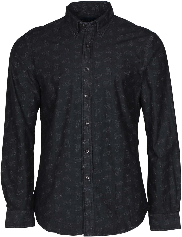 RALPH LAUREN Polo Men's Slim Fit Paisley Shirt, Black