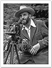 Photographer Ansel Adams with Camera Photo Artwork Framed Wall Art Print 18X24 Inch