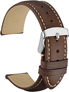 Watch Band, Vintage Leather Watch Strap, Choice of Color and Width (14mm 18mm 19mm 20mm 21mm 22mm)