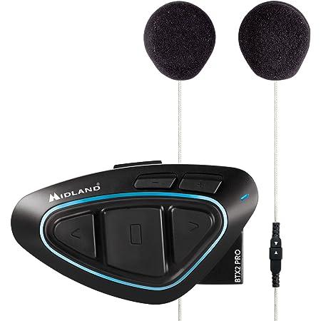 Midland C1231 03 Moto Kommunikationssystem Blau Set Elektronik