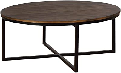 Details about  /Natural Side Coffee End Table Round High Quality Attractive Finish Assemblable