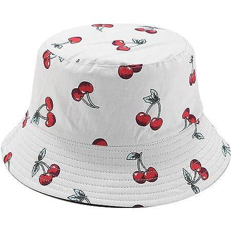 preliked Unisex French Fires Banana Print Fisherman Hat Women Bucket Cap Summer Outdoor Anti-Sunlight