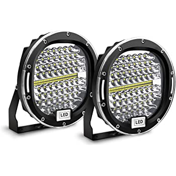 Safego LED Pods Light Bar 7 inch Round 2Pcs 300W 30000Lm Waterproof Spot Beam Led Work Light Off Road Lights Driving Light Compatible with Truck Suv Atv Tractor Boat