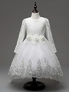 GHTWJJ Vestidos De Noche De Las Niñas Vestido De Princesa De La Boda del Vestido De La Muchacha Vestido Falda De La Cola d...
