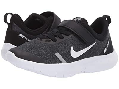 Nike Kids Flex Experience RN 8 (Little Kid) (Black/White/Cool Grey/Reflect Silver) Boys Shoes