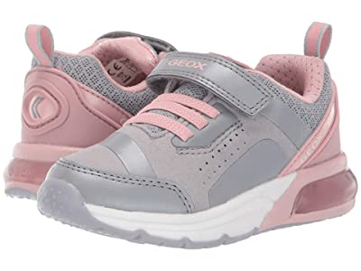 Geox Kids Jr Spaceclub 5 (Toddler) (Grey/Pink) Girls Shoes