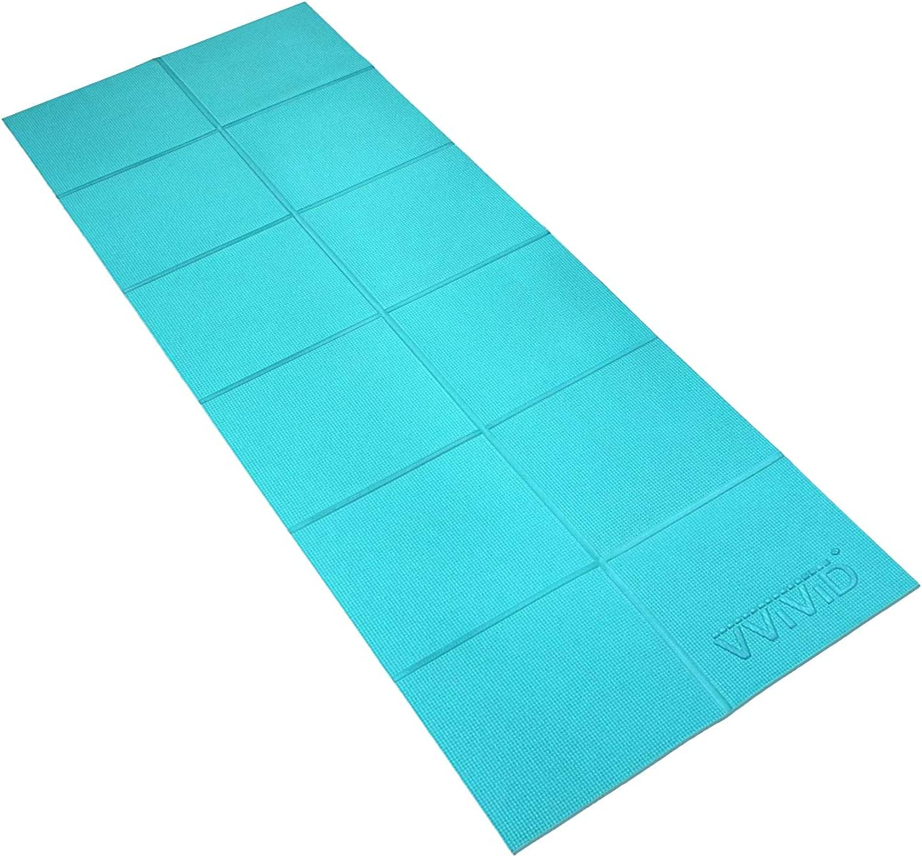 Tri-Fold Folding Exercise Mat Yoga//Pilates//Gym Class Workout//Fitness 5CM Sky Blu