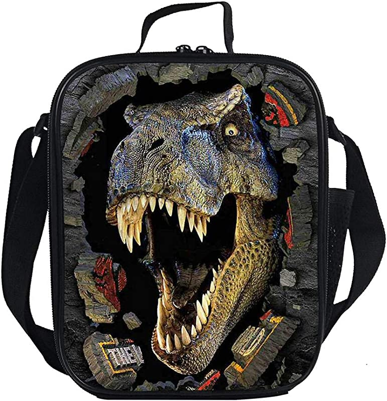 Dinosaur Lunch Box Insulated Lunch Cooler Bag